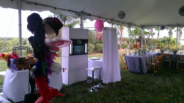 Photobooth at a Manasota Beach Tent Wedding
