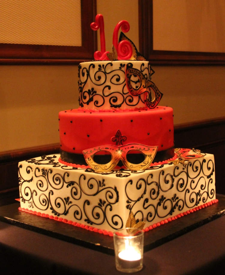 Venice Photobooth, Sweet Sixteen cake,