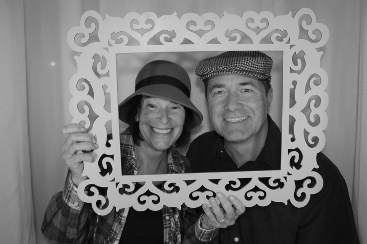 Venice Photo Booth couple in Frame
