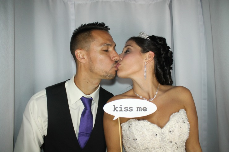 Bride and Groom in Venice Photo Booth
