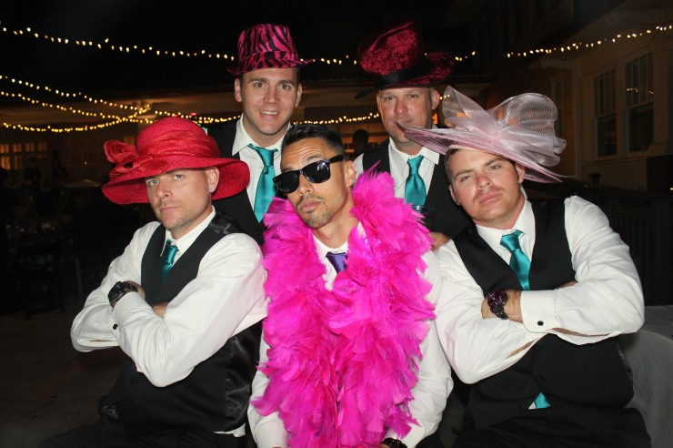 Groom and Groomsman in Venice Photo Booth