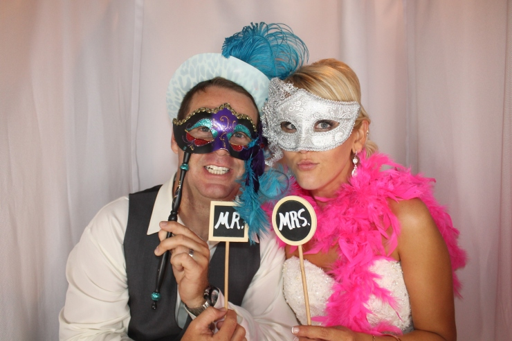 Mr and Mrs in Venice Photo Booth
