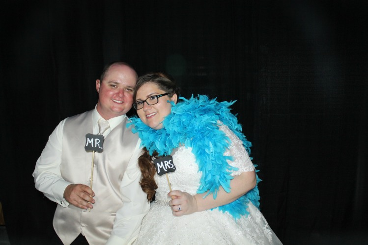 Bride and Groom in Photobooth Arcadia
