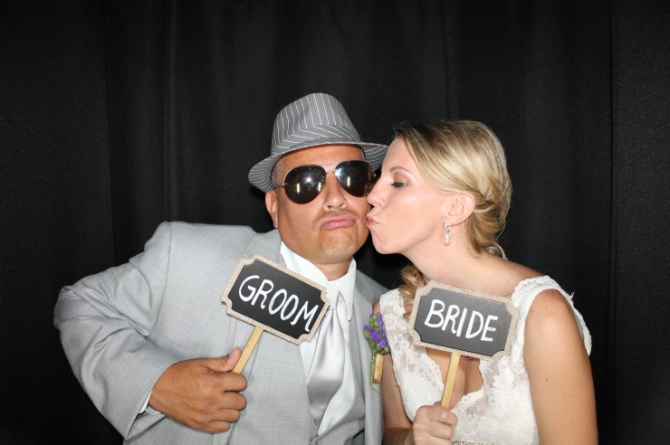 Bride and Groom Photo in Venice Sarasota Photobooth