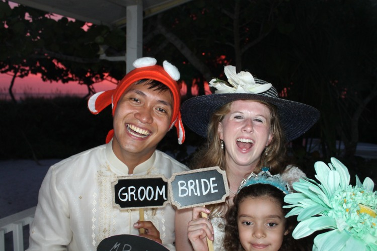 Bride Groom in Venice Photo Booth Sandbar Restaurant