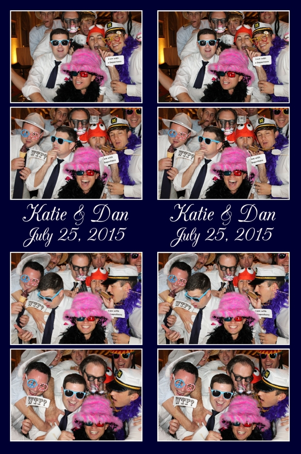 Groomsmen in Photobooth
