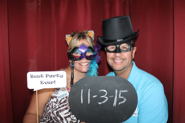 Bride and Groom in Photo Booth